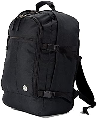 OUTBACK LITE Cabin Maximum Approved Carry On Bag Backpack massive 40 liter travel luggage 50x40x20 cm (Black)