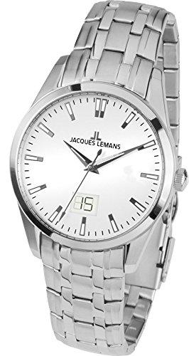b0533c0e6cbe Jacques Lemans Liverpool - Reloj de pulsera analógico para mujer cuarzo  acero inoxidable 1 - 1828e