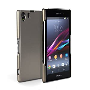 GMYLE(R) Metallic Champagne Gold Slim Fit Snap On Protective Hard Shell Back Case for Sony Xperia Z1 Honami L39H C6903 C6906 C6943