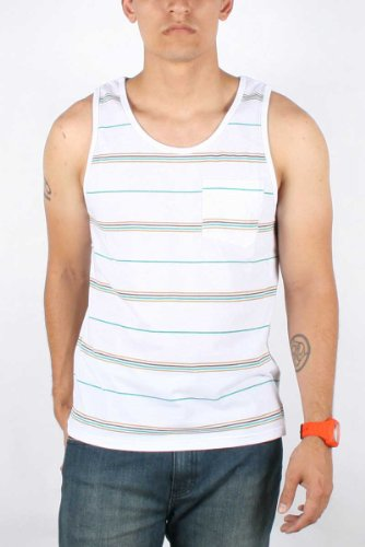 Volcom - Mens Preppolo Tank Top, Size: X-Large, Color: White