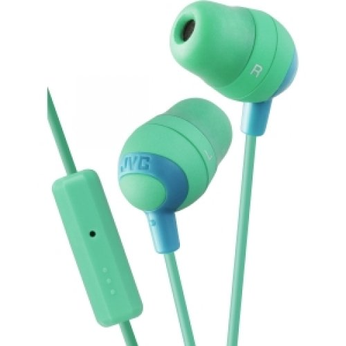 Jvc Marshmallow Earbuds W/ Mic And Remote Green / 4Afr37G /