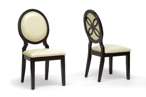 Vandegriff Brown and Ivory Modern Dining Chair with Chanasya Polish Cloth Bundle (Set of Two)