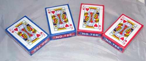 Plastic Coated Imnal Playing Cards - 4 Packs