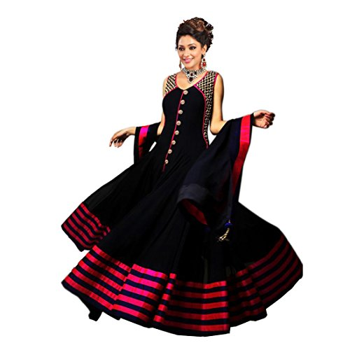Janasya-Womens-Georgette-Semi-Stitched-Dress-Material-JNE0917-DRE-BLACKABlack