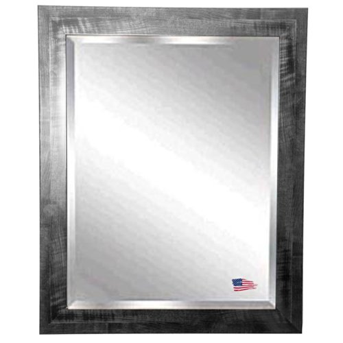 American Made Rayne Black Smoke Beveled Wall Mirror, 25.5 X 29.5 front-193672