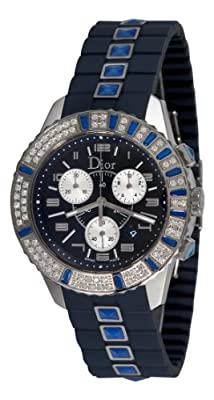 Christian Dior Women's CD11431IR001 Christal Chronograph Diamond Blue Dial Watch by Christian Dior
