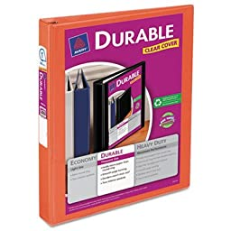 Durable View Binder with Slant Rings, 11 x 8 1/2, 1\