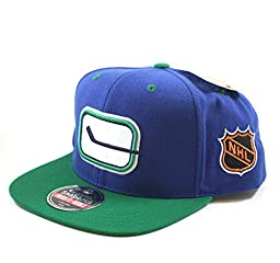 Vancouver Canucks Embroidered Flat-Billed Snapback Cap by American Needle