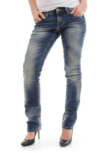 MOD Jeans Women - RONJA STRAIGHT - Bonita Blue, Hosengröße:27/32
