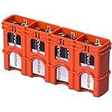 Storacell Powerpax 9V Battery Caddy, Orange, 4-Pack
