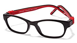 Vincent Chase Flex VC 8027 Black Red C3 Kids' Eyeglasses (Kids 1-5 yrs)
