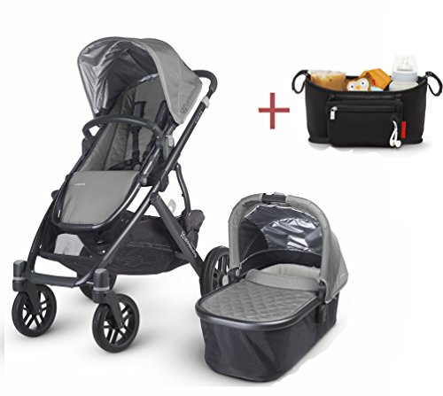 Lowest Prices! 2016 Uppababy Vista Stroller with Rain Cover & modd mini Stroller Console (pascal)