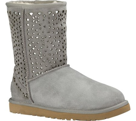 ugg-womens-classic-short-flora-perf-boot-light-grey-size-7