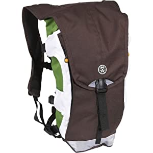 Crumpler The Bumper Issue Hydration Pack, Brown/White/Lime
