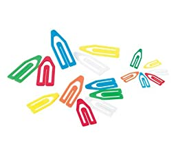 OfficemateOIC Plastic Paper Clips, Assorted Sizes, 250 Small, 50 Medium, 25 Large (99904)