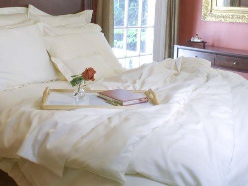 """100% Certified Organic Cotton Sateen Bedding - European Pillow Sham - Ivory (Fits A 26 X 26"""" Pillow) front-641275"""