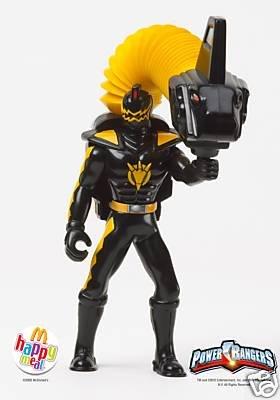 McDonalds Power Rangers Black Ranger Figure Toy #1 2005 - 1