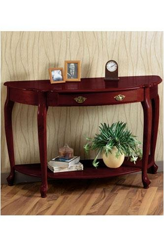 Cheap 48″w Queen Anne Half-moon Console Table (B000A5AJQU)
