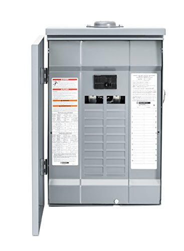 Square D by Schneider Electric HOM2040M100PRB Homeline 100 Amp 20-Space 40-Circuit Outdoor Main Breaker Load Center (Plug-on Neutral Ready), , (Homeline Panel 100 Amp compare prices)