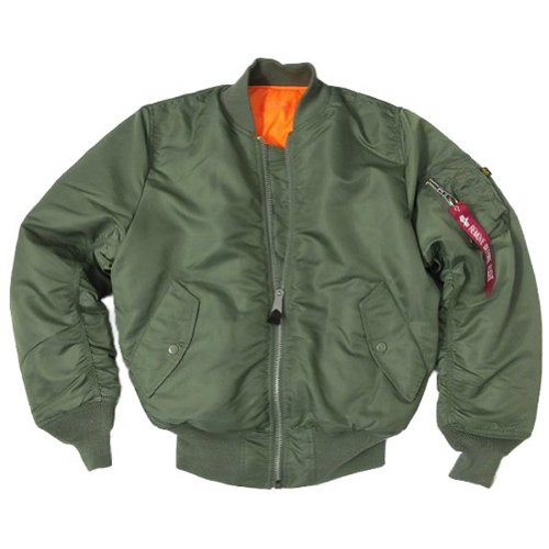 Alpha Industries Olive/Sage MA1 Flight Pilot Bomber Jacket Sizes XS - XXL