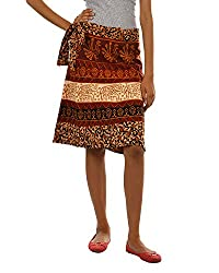 Fashiana Girls|Women's Cotton Wrap Skirt (Fsktf111Ktb _Brown _Free Size)