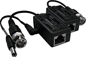 LTS LTA1010 1 Pair Passive Video Balun with Power Connectors