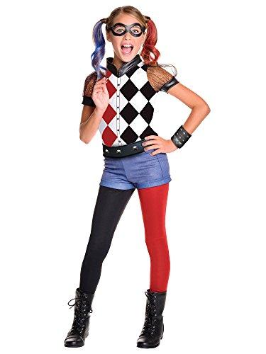 Rubies-Costume-Kids-DC-Superhero-Girls-Deluxe-Harley-Quinn-Costume