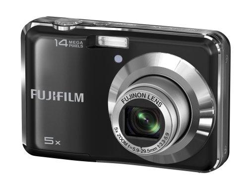 Fujifilm FinePix AX300 14 MP Digital Camera with Fujinon 5x Wide Angle Optical Zoom Lens (Black)