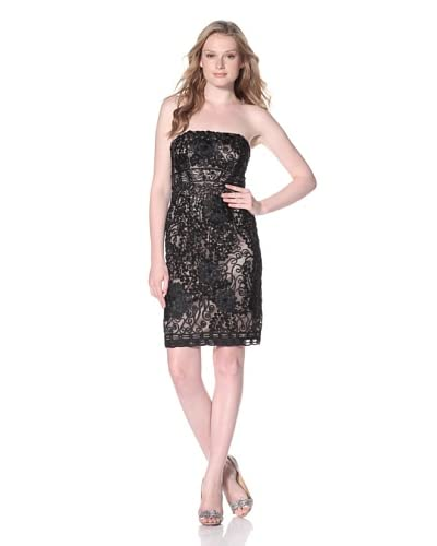 Sue Wong Women's Strapless Cocktail Dress
