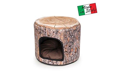 """Tunnel igloo """"Nature"""" cuccia per cani e gatti h35x 42 diametro"""