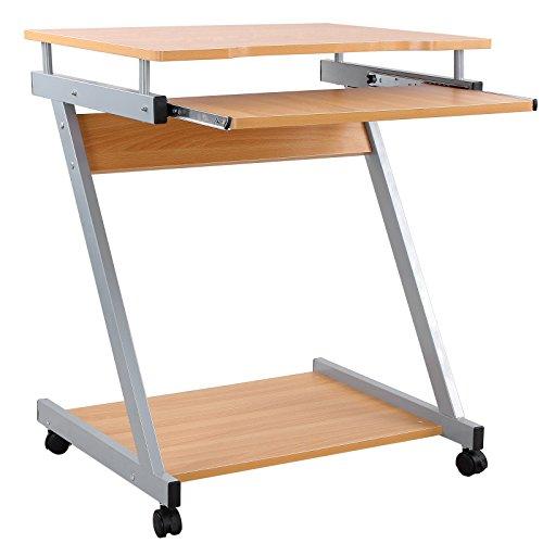Songmics scrivania per computer scrivania ufficio porta pc - Petite table roulante ...
