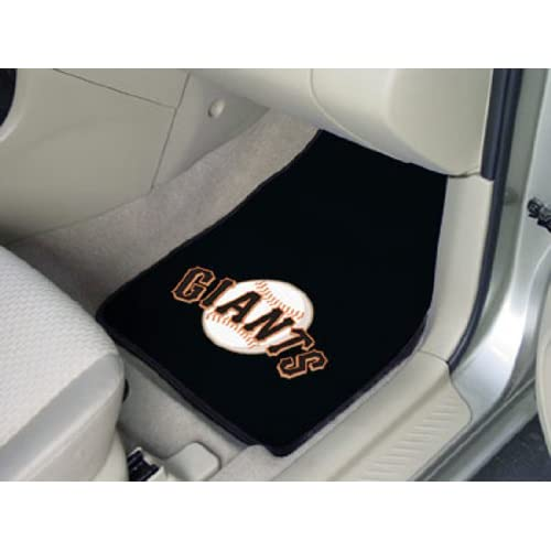 MLB San Francisco Giants 2 Piece Cromo Jet Printed Floor Car Mat Set