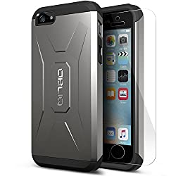 [Black] Obliq Apple iPhone 5S Case Xtreme Pro Series w/ HD Screen Protector - Premium Slim Fit Dual Layer Hard Case - Verizon, AT&T, Sprint, T-Mobile, International, and Unlocked - Case for Apple iPhone 5S 5 2013 Model