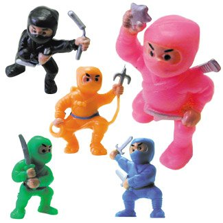 Mini Ninja Stealth Warriors - One Dozen