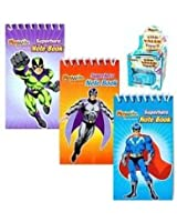 12 Mini Super Hero Notebooks - Party bag fillers - 3 Designs