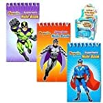 12 Mini Super Hero Spiral Notebooks -...