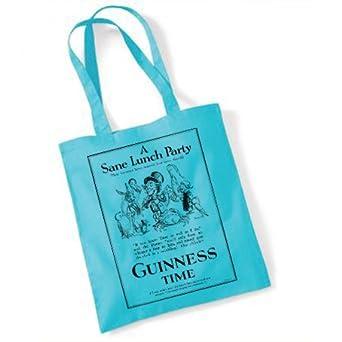 Alice in Wonderland Guinness Time 1931 Tote Bag (blue)