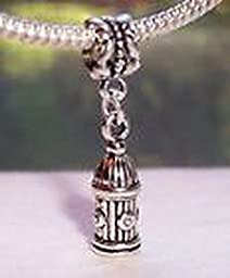 Pugs & Pandoras Fire Hydrant Firefighter Plug Rescue Dangle Bead fits European Charm Bracelets PP21231