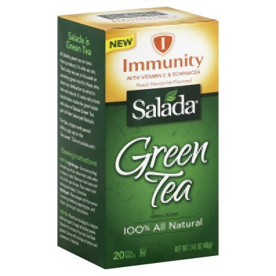 Salada Immunity Green Tea Bags - 20 Per Pack -- 6 Packs Per Case.