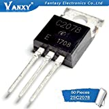 HATOLY 50PCS C2078 TO220 2SC2078 TO-220 2078 3A 80V Hot Sale
