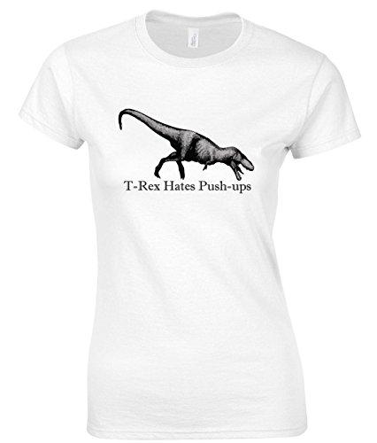 T-rex Hates Push-ups Maglietta delle donne XX-Large