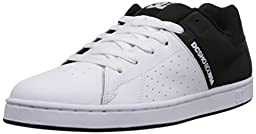 DC Men\'s Wage Skate Shoe, Black/White, 12 M US