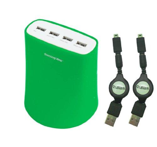 スマホ&タブレットを同時に4台充電できる「Jelly 5.1A USB4ポート充電器」
