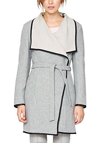 s.Oliver Premium - Double Face, Cappotto da donna, grigio (forever grey melange 9400), 50
