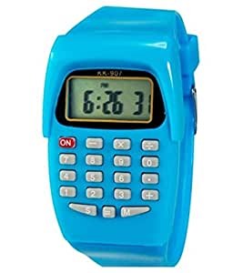 Pappi Boss Pappi Boss Unisex Silicone Blue Smart Calculater Digital Watch for Boys & Girls