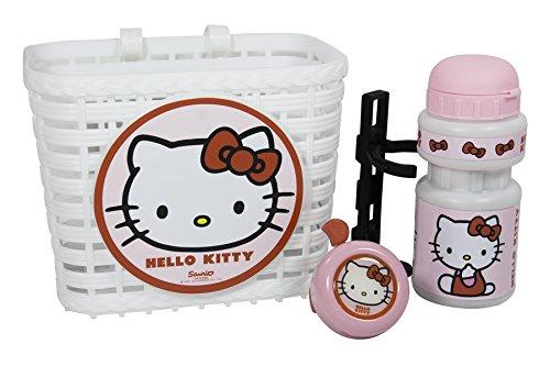 Hello Kitty - Set cestino + borraccia + campanello
