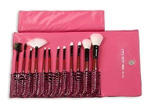 MASH Studio Pro Makeup Make Up Cosmetic Brush Set Kit w/ Leather Case
