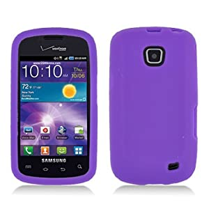 Aimo Wireless SAMI110SK014 Soft n Snug Silicone Skin Case for Samsung Illusion/Proclaim i110 - Retail Packaging - Purple