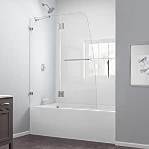 AquaLux 48 in. Frameless Hinged Tub Door,