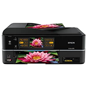 Epson Artisan 810 Wireless All-in-One Color Inkjet Printer, Copier, Scanner, Fax (C11CA52201)